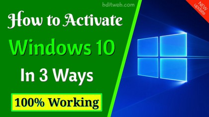 How to Activate Windows 10 in 3 Ways
