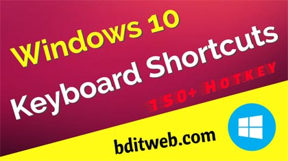 Windows 10 Keyboard All Shortcuts (A to Z)